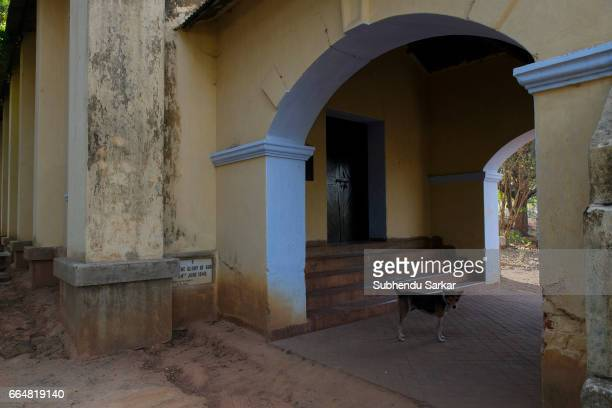 MCCLUSKIEGUNJ RANCHI JHARKHAND INDIA A view of a Protestant church that was once frequently visited by the members of the AngloIndian families...