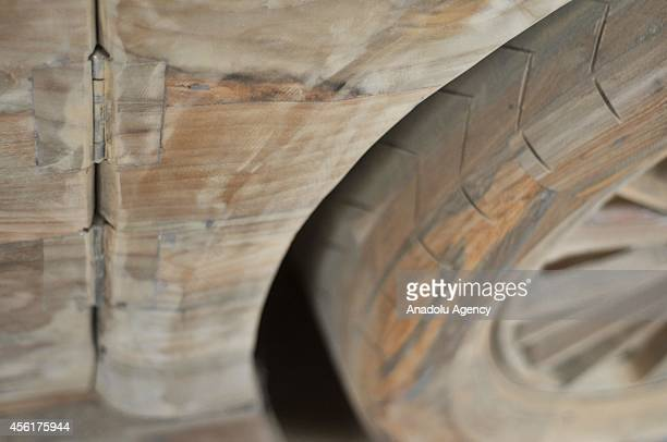 A view of a realsize replica of Bugatti Veyron Super Sport car from wood made in Boyolali Central Java Indonesia on September 26 2014 A replica of...