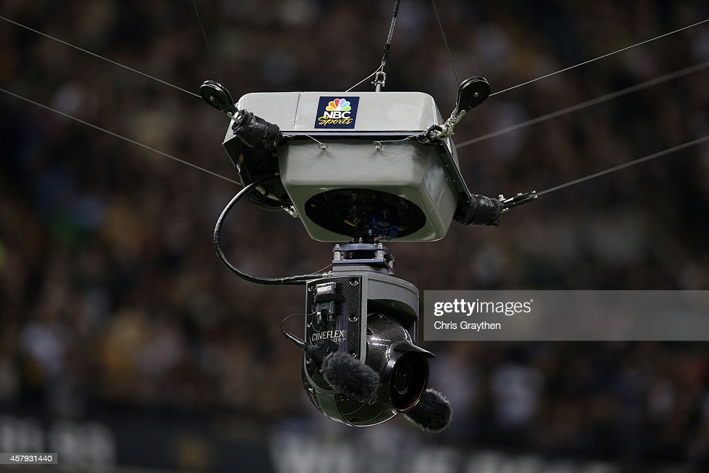 A view of a remote camera during the game between the Green Bay Packers and the New Orleans Saints at Mercedes-Benz Superdome on October 26, 2014 in New Orleans, Louisiana.