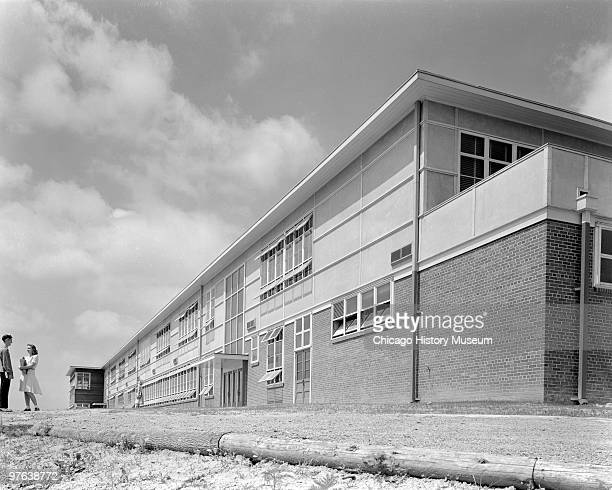View of a school in Oak Ridge Tennessee July 12 1944 The city was established in 1942 to house the employees of the uraniumenrichment facility of the...