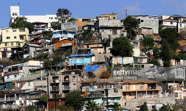 A view of a shantytown in Tijuana Mexico 27 January 2006 The border city has expanded considerably in recent years as the area has become...
