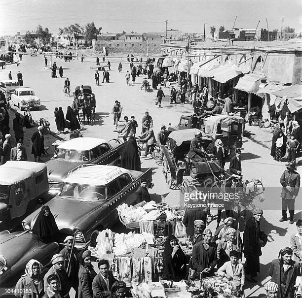 A view of a street of Erbil one of the most ancient inhabited cities in the world mostly inhabited by Kurds 1963 marked the coming to power of the...