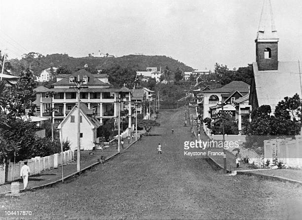 A view of a street of Monrovia Liberia in the 19201930's