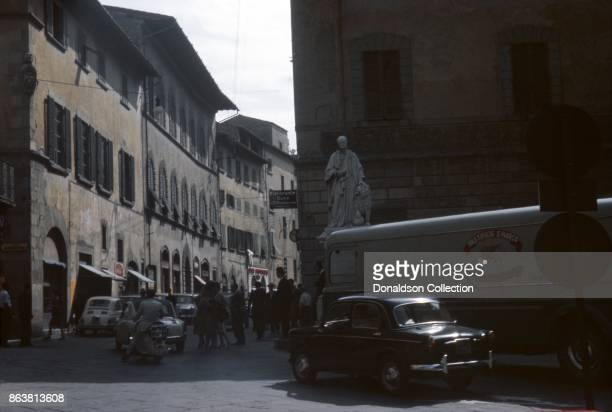 A view of a street on September 17 1963 in Pistoia Italy