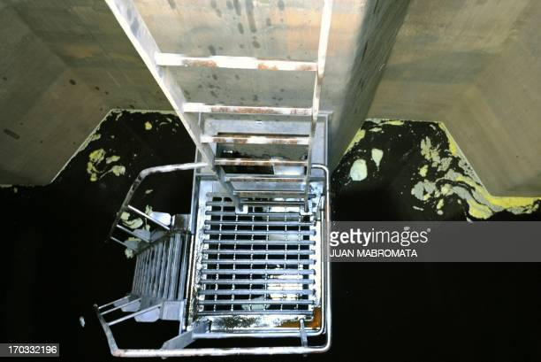 View of a tank filled with soy bean oil at the General San Martin port on the Parana river banks near San Lorenzo Santa Fe some 350 km northwest of...