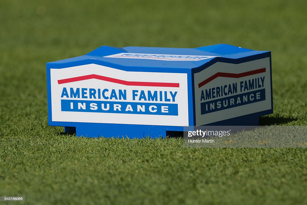 A view of a tee marker on the second hole during the final round of the Champions Tour American Family Insurance Championship at University Ridge Golf Course on June 26, 2016 in Madison, Wisconsin.