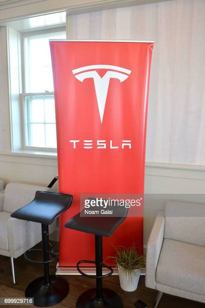 A view of a Tesla display during 2017 Nantucket Film Festival Day 2 on June 22 2017 in Nantucket Massachusetts