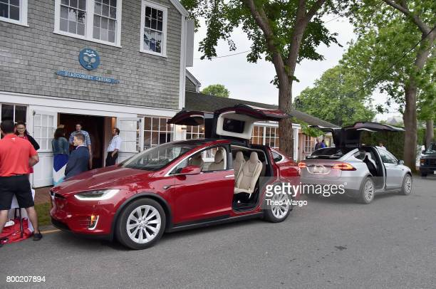 A view of a Tesla Model X at the Screenwriters Tribute during the 2017 Nantucket Film Festival Day 3 on June 23 2017 in Nantucket Massachusetts