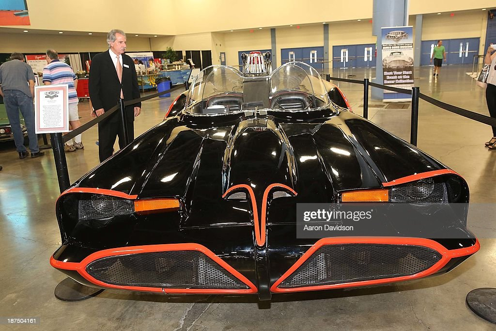 A view of a The Bat Mobile at Miami International Auto Show at the Miami Beach Convention Center on November 9, 2013 in Miami Beach, Florida.