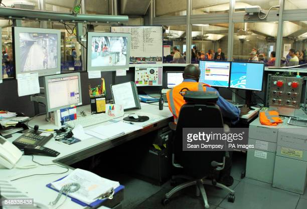 A view of a the control room at Westminster underground station as tube workers prepare for the lead up to the start of the London 2012 Olympic games