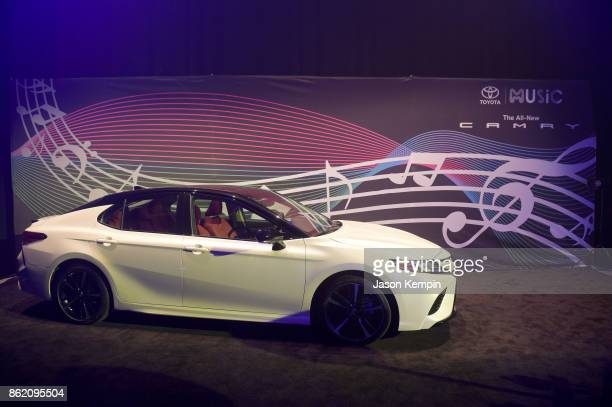 A view of a Toyota Camry at VH1 Save The Music 20th Anniversary Gala at SIR Stage37 on October 16 2017 in New York City