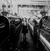 View of a young girl one of the many small children working in the Mollahan Mills factory in Newberry SC 1908