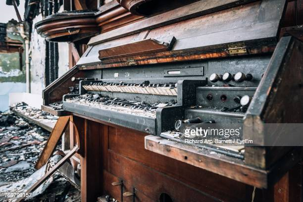 View Of Abandoned Piano