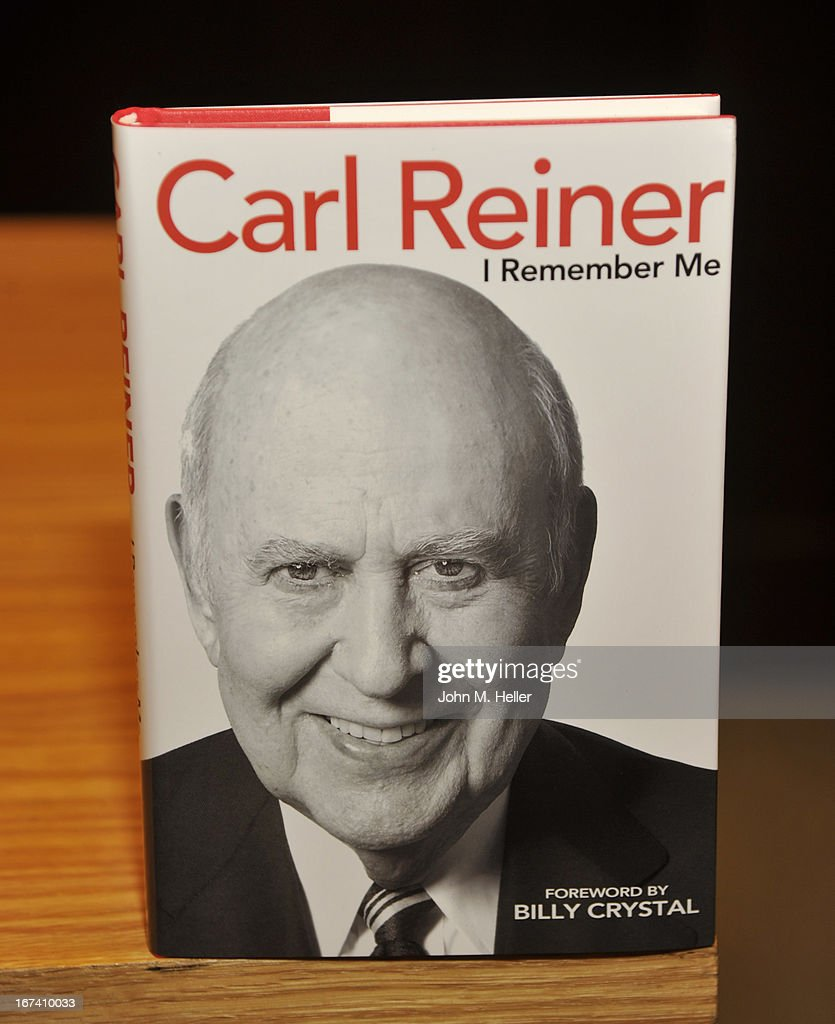A view of actor/comedian Carl Reiner's new book 'I Remember Me' during a book signing at Barnes & Noble bookstore at The Grove on April 24, 2013 in Los Angeles, California. (Photo by John M. Heller/Getty Images