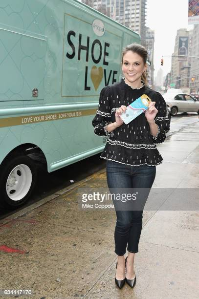 A view of actress Sutton Foster seen around at Skylight Clarkson Sq during New York Fashion Week The Shows on February 9 2017 in New York City