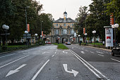 View of Adenauerallee in Bonn Germany 08 September 2014 Bonn that offers many touristic attractions was founded in the first century BC as a Roman...