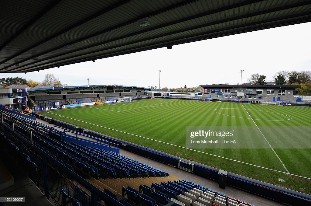 A view of AFC Telford New Bucks Head Stadium during the UEFA Womens U17 Championship Finals match between England and Italy at the AFC Telford New Bucks Head Stadium on November 26, 2013 in Telford, England.