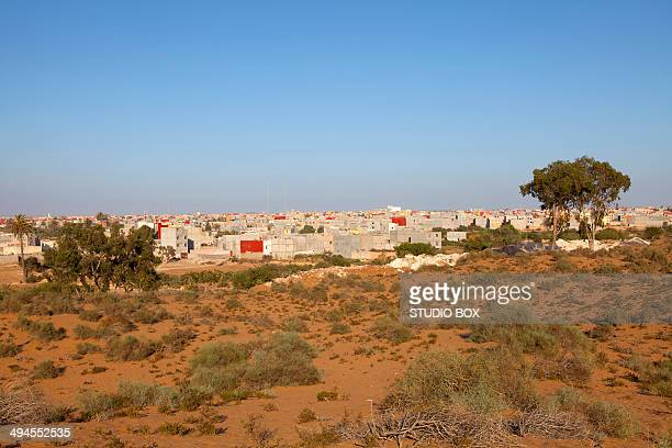 View of Agadir from the desert