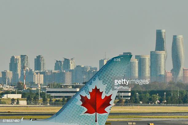 A view of Air Canada plane at Toronto Pearson International Airport On Wednesday 20 July 2016 in Toronto Canada