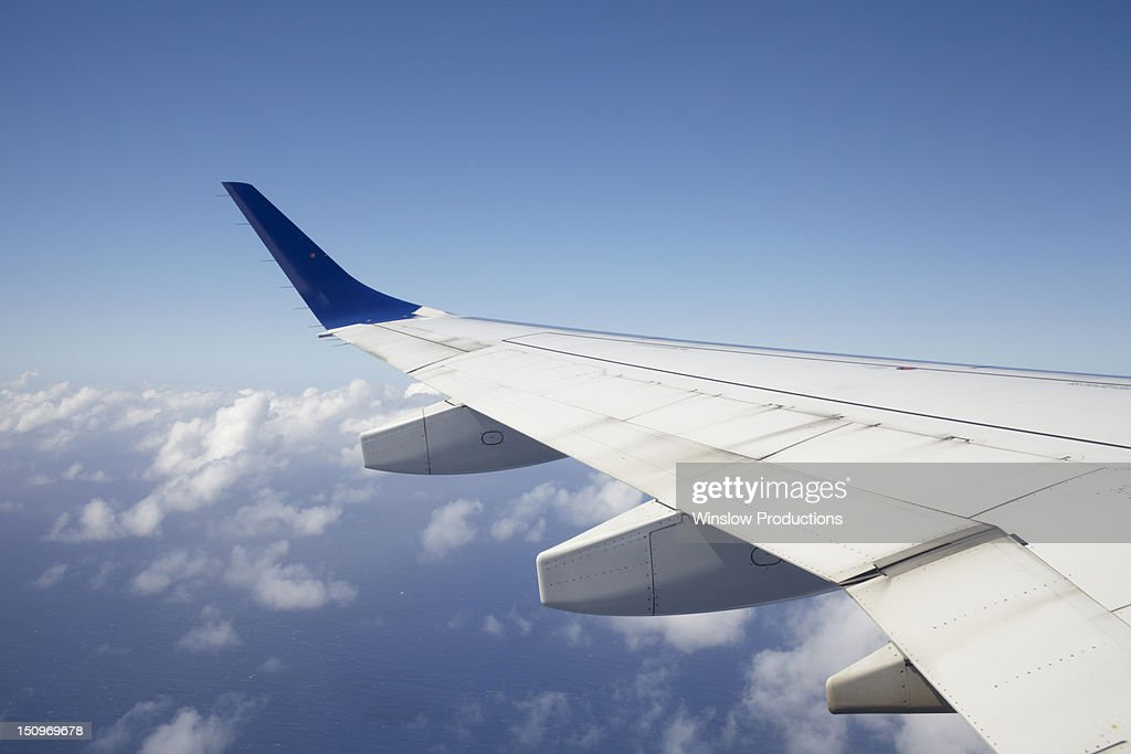 View of airplane wing
