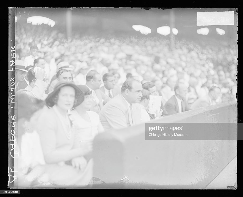 View of Al Capone among spectators at Comiskey Park Chicago Illinois 1931 From the Chicago Daily News negatives collection