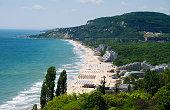 View of Albena resort near Varna, Bulgaria