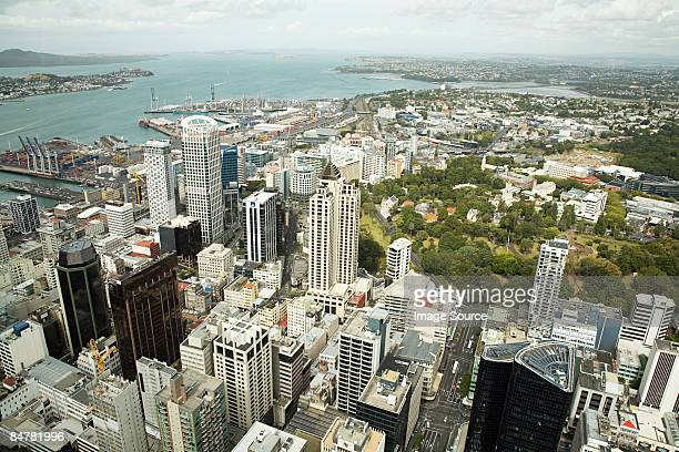 View of albert park and the harbour auckland