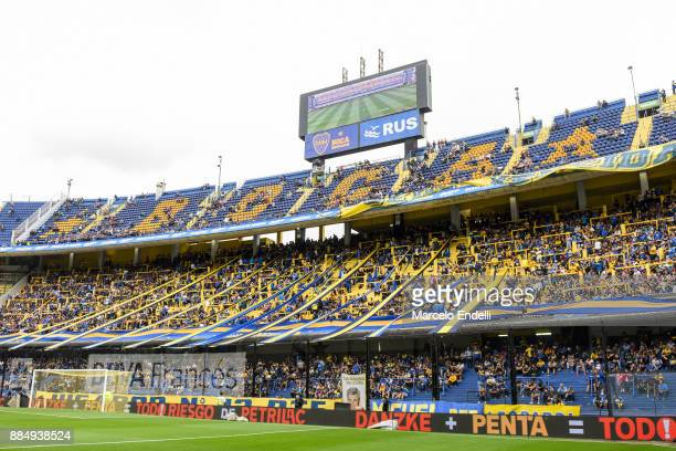View of Alberto J Armando Stadium before a match between Boca Juniors and Arsenal as part of the Superliga 2017/18 at Alberto J Armando Stadium on...