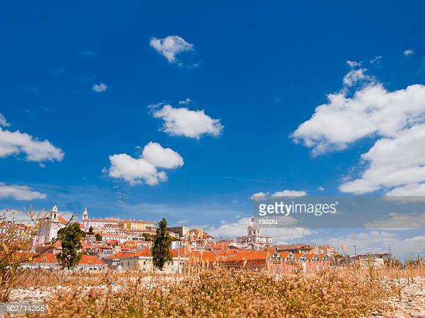 A view of Alfama from the Tagus Riverside