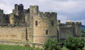 View of Alnwick Castle Northumberland England