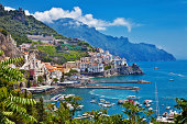 pictorial small town Amalfi. Italy