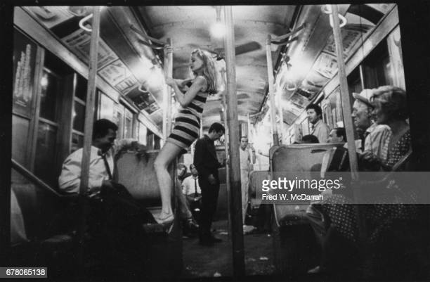 View of American actors Al Freeman Jr and Shirley Knight in a scene from the film 'Dutchman' New York New York February 16 1967