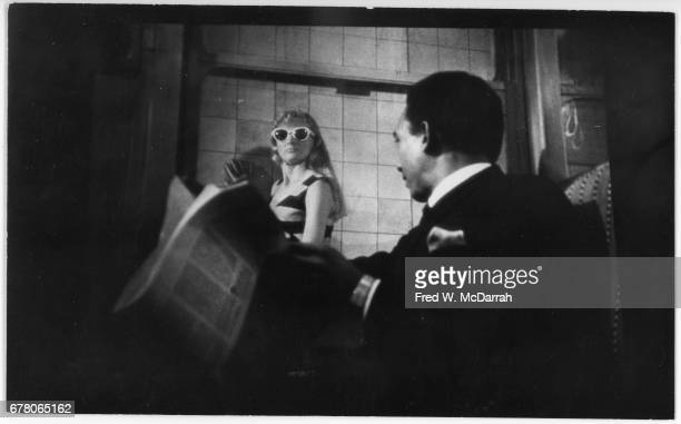 View of American actors Shirley Knight and Al Freeman Jr in a scene from the film 'Dutchman' New York New York February 16 1967