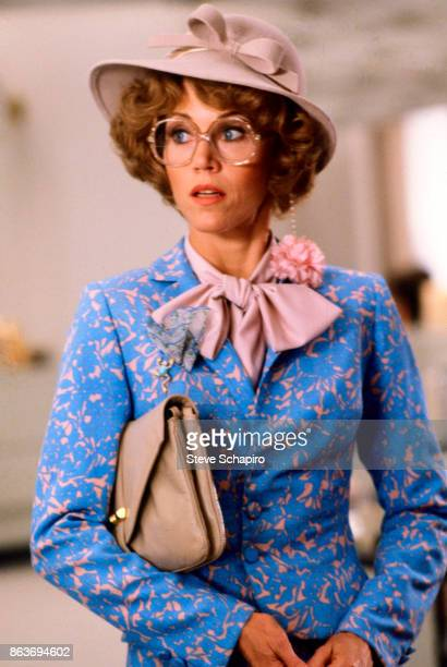 View of American actress Jane Fonda in a scene from the film 'Nine To Five' Los Angeles California 1979