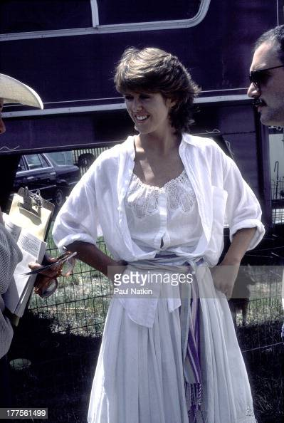 View of American actress Pam Dawber during a visit to musican Tommy Shaw's residence Niles Michigan August 18 1983