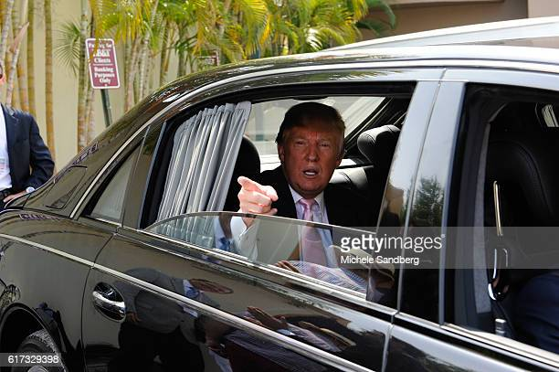 donald trump car stock photos and pictures getty images. Black Bedroom Furniture Sets. Home Design Ideas