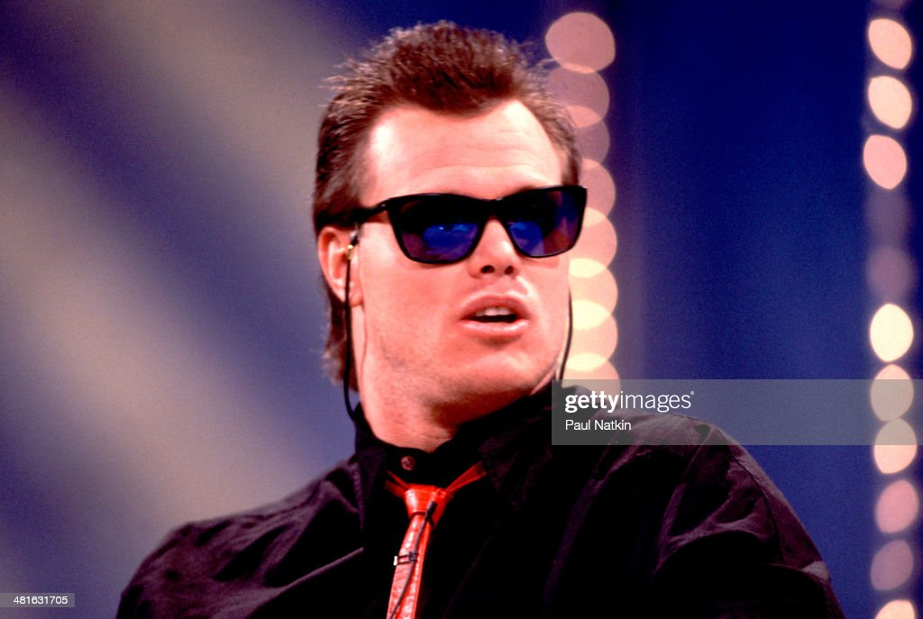 View of American football player <a gi-track='captionPersonalityLinkClicked' href=/galleries/search?phrase=Jim+McMahon+-+American+Football+Player&family=editorial&specificpeople=228299 ng-click='$event.stopPropagation()'>Jim McMahon</a>, quarterback for the Chicago Bears, in sunglasses, Chicago, Illinois, 1987.