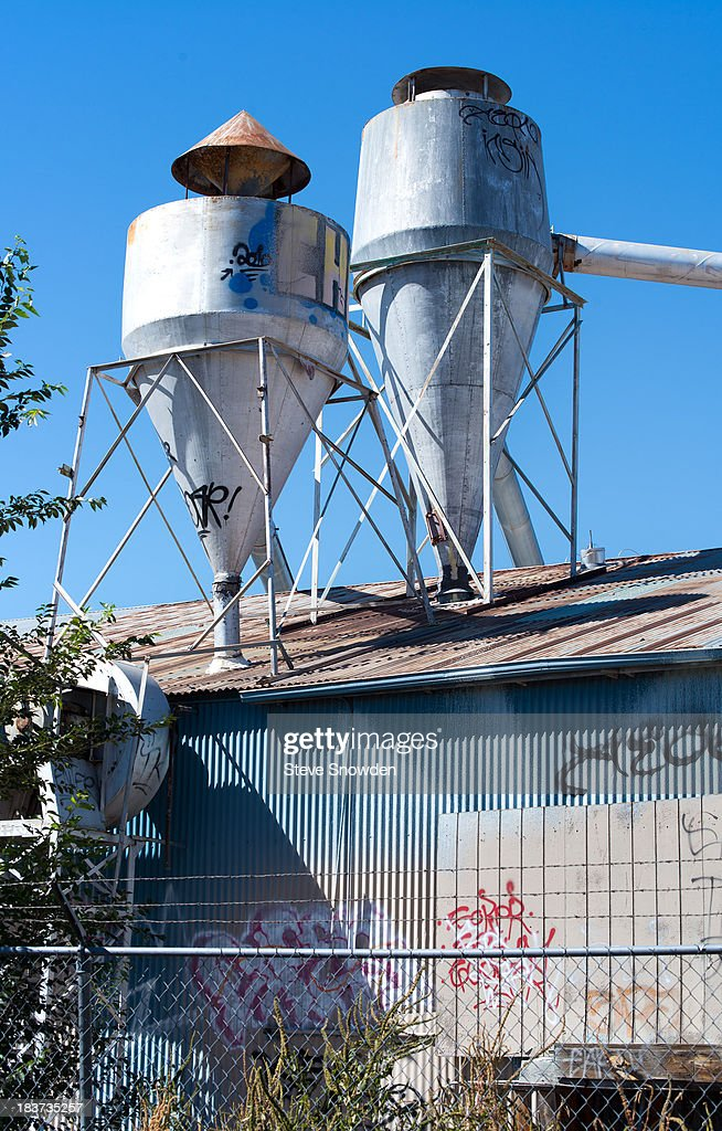 A view of an abandoned wood mill on October 09, 2013 in Albuquerque, New Mexico. The old mill served as the Nazi headquarters where 'Breaking Bad's Walter White met his end in the Season 5 series finale.