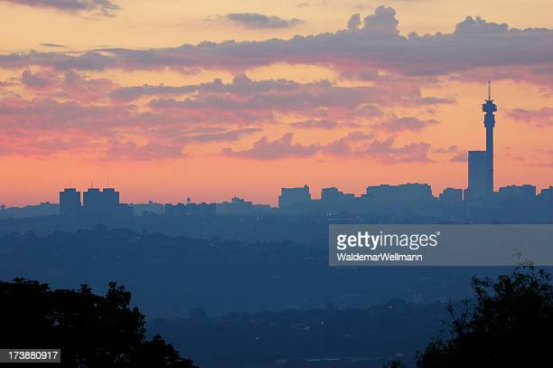 A view of an African city during dawn