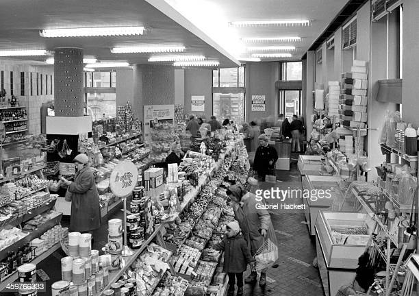 A view of an American style Supermarket in Budapest Hungry Circa 1950