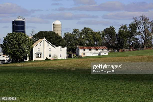 View of an Amish farm