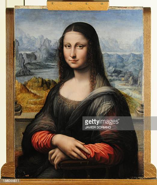 View of an authenticated contemporary copy of Leonardo da Vinci's Mona Lisa presented at the Prado Museum on February 1 2012 after it was found in...