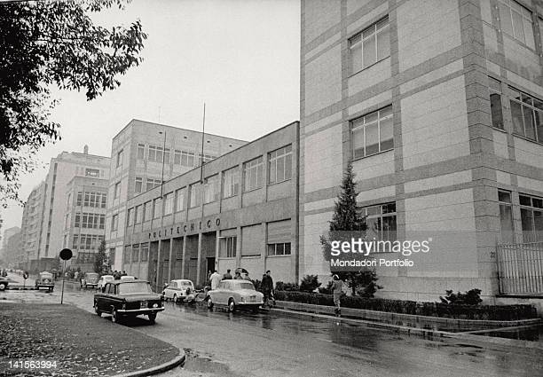 View of an entrance of the state university institute 'Politecnico' It is the top of the Italian upper education in the field of Architecture and...