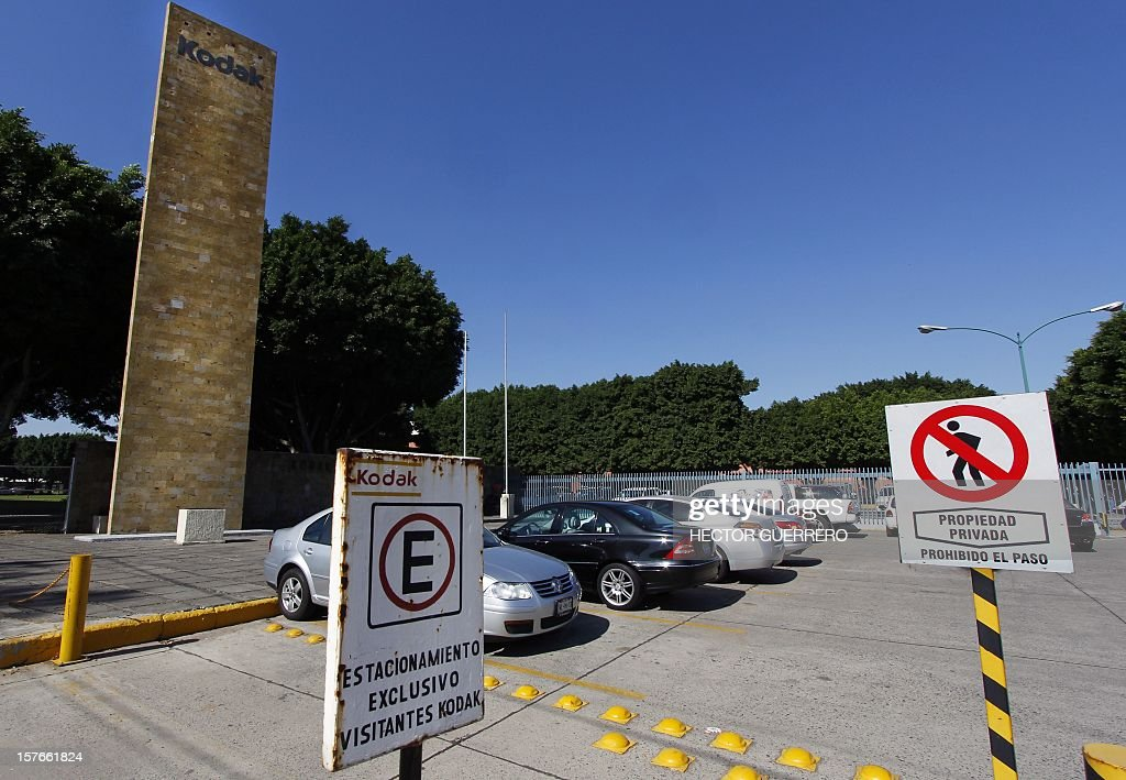 View of an entrance to the Kodak photography company in Guadalajara City on December 5, 2012. Next December 6 and 7 Kodak of Mexico will auction 800 machinery and equipment lots with a value close to 2 million dollars. 2012.