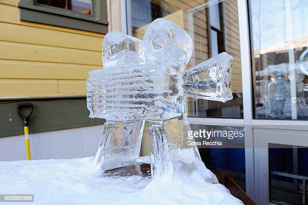 A view of an ice sculpture attends the Alfred P Sloan Foundation Reception and Prize Announcement during the 2016 Sundance Film Festival at High West...