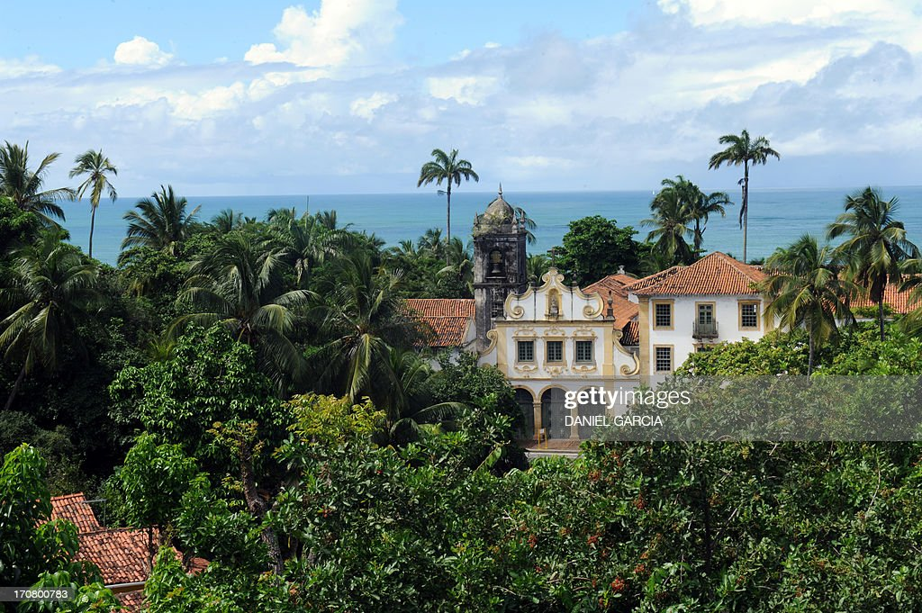 View of an old building in the city of Olinda in the state of Pernambuco on June 16, 2013. Olinda is located on the country's northeastern Atlantic Ocean coast, just north of Recife and it is the second oldest Brazilian city.
