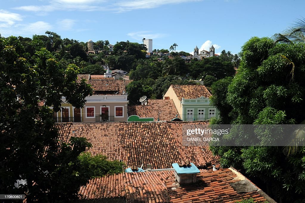View of an old building in the city of Olinda in the state of Pernambuco on June 16, 2013. Olinda is located on the country's northeastern Atlantic Ocean coast, just north of Recife and it is the second oldest Brazilian city. AFP PHOTO / DANIEL GARCIA