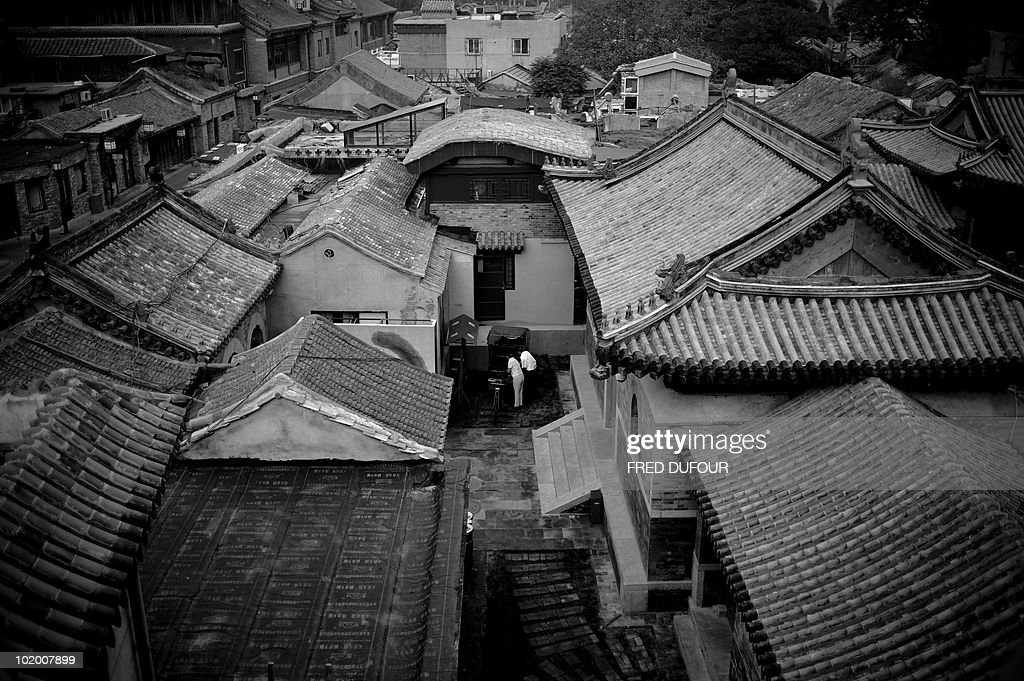 View of an old hutong area on September 3 2008 in Beijing AFP PHOTO / FRED DUFOUR