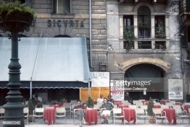 A view of an outdoor cafe on September 15 1963 in Florence Italy