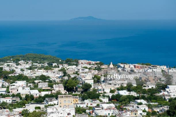 View of Anacapri, the hill town in Capri, Italy